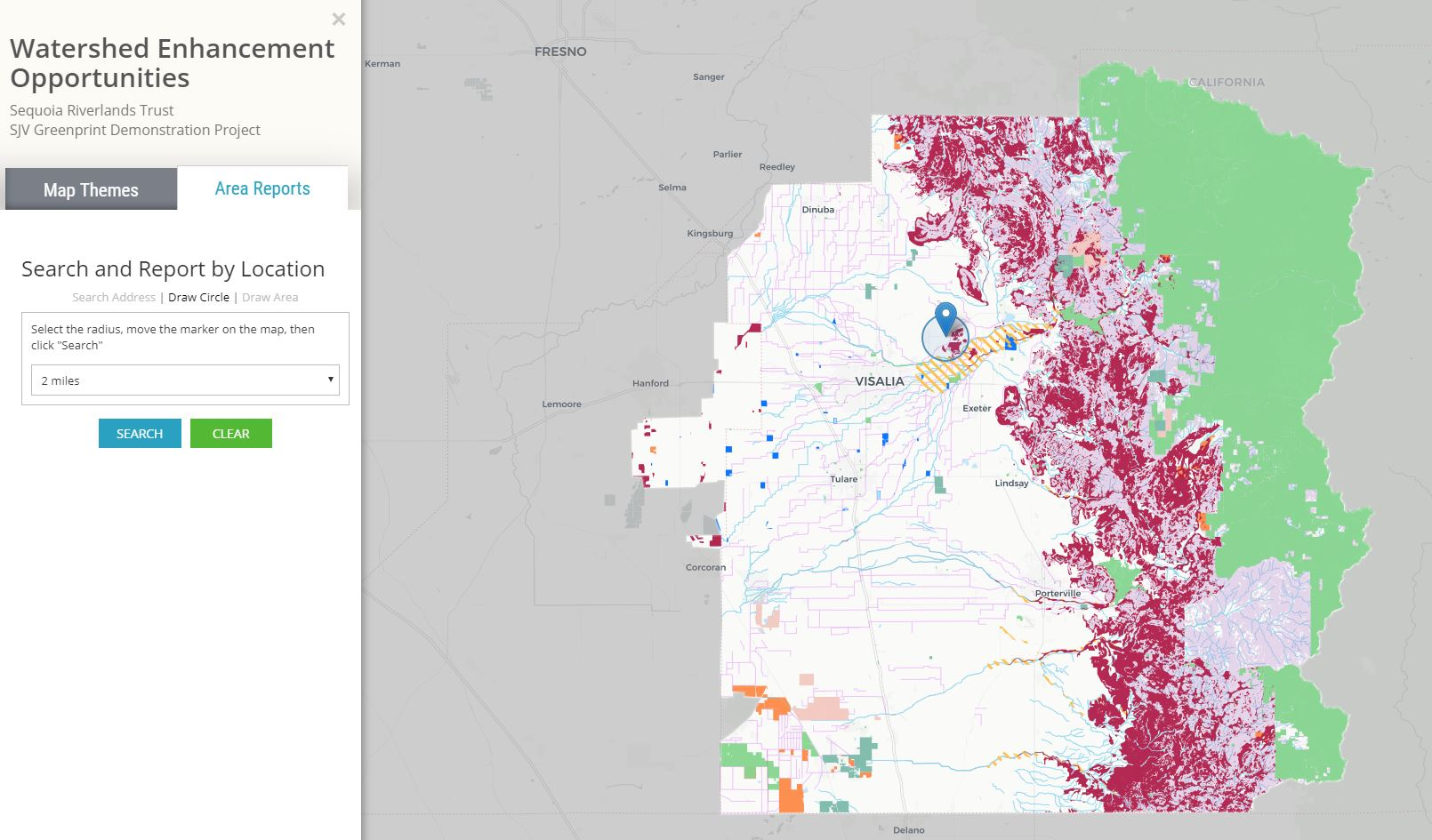Mapping Groundwater Conservation In The San Joaquin Valley